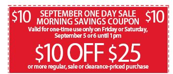 $10 off Purchase of $25 or more!