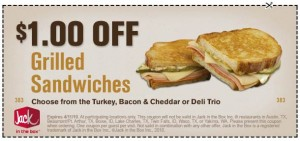 Jack in the Box $1 off Coupon