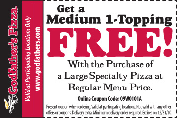 Godfather Free Medium Pizza with Purchase of Large